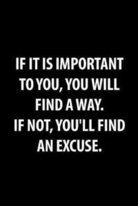 No Excuses Quote